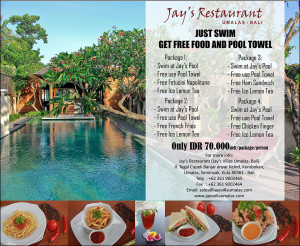Restaurant pool packages B